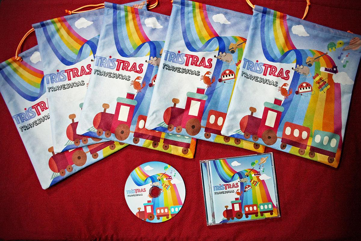 Merchan bolsas y CDs TrisTras
